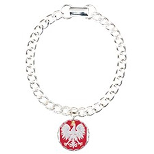 - CafePress - Polish Eagle Crest - Charm Bracelet with Round Pendant