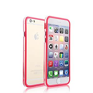 QHY Two Mixed Colors with Transparent Middle Bumper Frame Case for iPhone 5/5S(Assorted Colors) , Dark Blue
