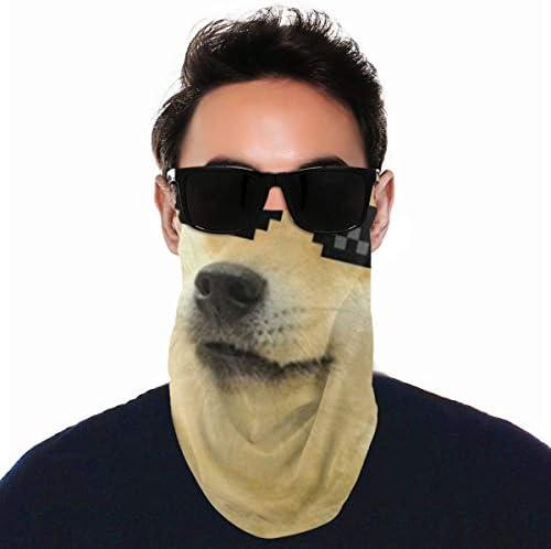 フェイスカバー Uvカット ネックガード 冷感 夏用 日焼け防止 飛沫防止 耳かけタイプ レディース メンズ Sunglsses Cool Doge Dogs