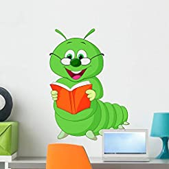 Wallmonkeys Caterpillar Reading Book Wal...