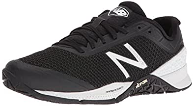 New Balance Women's WX40V1 Cross Trainers, Black/White, 5 D US