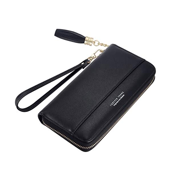 Women's Wallet, Clutch Travel Purse,Long Zipper Wallet PU Leather Wallet with Zipper Pocket, Multi Card Organizer Gift for Ladies