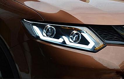 Amazon Com Gowe Nissan X Trail Headlights 2014 2016 For X Trail Led