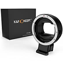 EF-NEX Lens Mount Adapter,K&F Concept Auto Focus Electronic Canon EOS EF EF-S lens to Sony NEX E Mount Adapter Ring