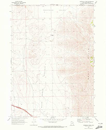 YellowMaps Ridgedale Pass UT topo map, 1:24000 Scale, 7.5 X 7.5 Minute, Historical, 1968, Updated 1972, 26.8 x 22 in - ()