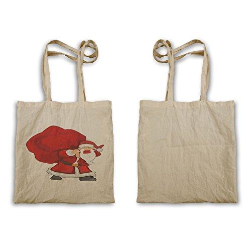 Winter Santa bag Tote Claus bag p446r Winter Santa Happy Claus Happy Tote IF55wnqafv