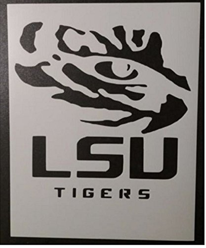 TNS STORE LSU Tigers Louisiana State Tiger Eye 8.5 x 11 Custom Stencil -