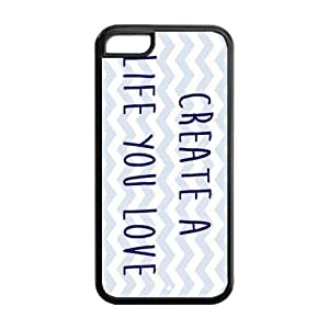 the Case Shop- Live the Life you Love TPU Rubber Hard Back Case Cover Skin for iPhone 5C ,i5cxq-132