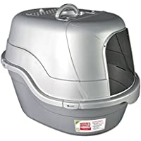 Nature's Miracle Oval Hooded Flip Top Litter Box With Odor Control