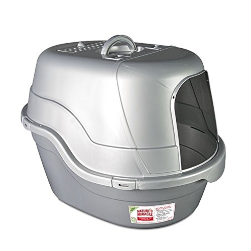 Nature's Miracle Hooded Flip Top Litter Box, Oval, With Odor Control ()