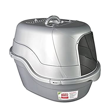 Nature's Miracle Oval Hooded Flip Top Litter Box w/ Odor Control