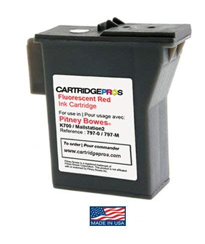 Pitney Bowes Mail Station - Pitney Bowes 797-M Red Postage Meter Compatible Cartridge for MailStation 1 & 2. Made in USA!