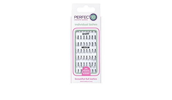 0b8a86d6a7e Amazon.com : Perfect 10 Individual Lashes by Perfect 10 : Beauty