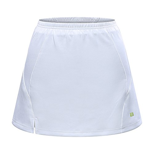 Gym Girl Ultra Skort - TOPTIE Gym Girl Ultra Skirt with Athletic Shorts, Running Tennis Golf Workout-White-M