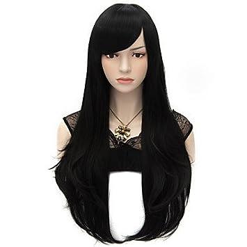 Meylee Pelucas HANMGS 70cm estilo Natural recto moda mujer fiesta pelucas calor resistir Synhtetic traje de