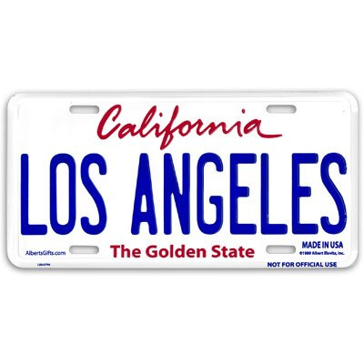 Los Angeles Novelty License Plate Souvenir of - Novelties Souvenirs