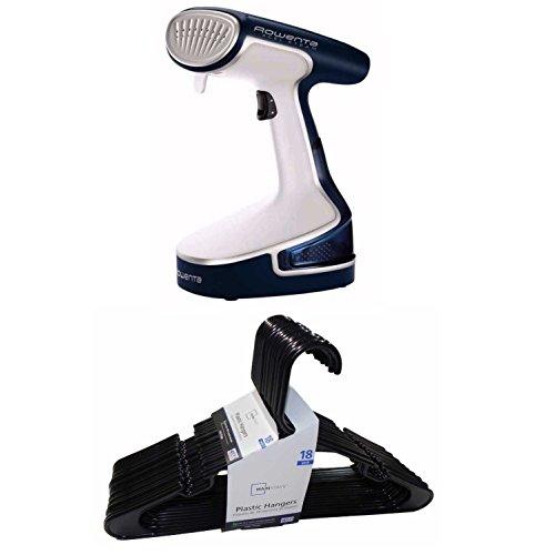 Rowenta DR8080 X-Cel Steam Powerful Handheld Garment Steamer + Hangers (Steamer Rowenta Handheld)