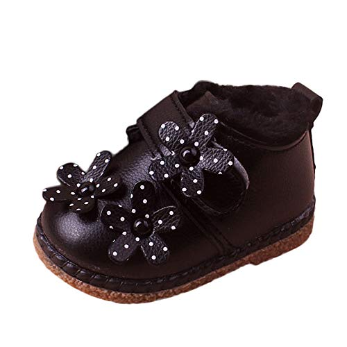 Baby Girls Boys Snow Boots Sneakers, Beyonds Soft Sole Flower Warm Shoes Outdoor Sports Children Kids Autumn Winter Shoes, Toddler First Walker Infant Newborn Prewalker Crib Shoes
