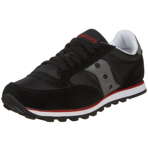 Saucony Jazz Low Pro - Saucony Originals Women's Jazz Low Pro Sneaker,Black/Gray/Red,9.5 M US