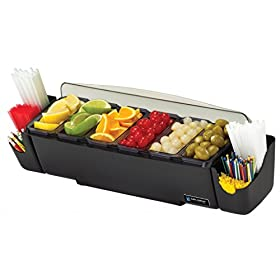 San Jamar BD4006S 10 Piece The Dome Garnish Center, 3qt Capacity, 22″ Length x 7-1/2″ Width x 8-1/2″ Height