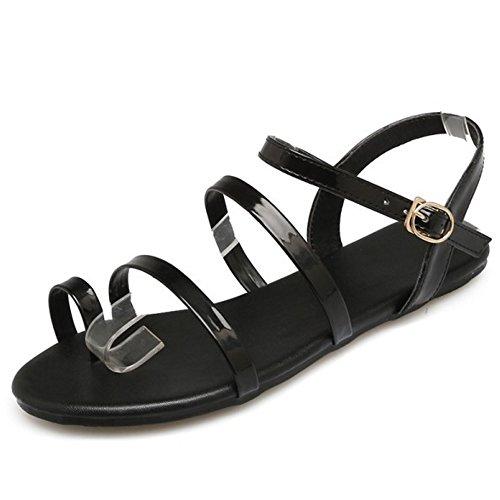 RAZAMAZA Femmes Plates Black Simple Sandales TFBfwBqPZ