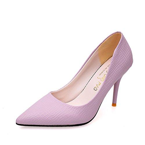 Femenina Zapatos Tacón VIVIOO Bombas Lavender Tacones La Las De Aguja nbsp; nbsp; De Espiga Poco De Mujer Tacones De Alto Versión nbsp;La Profundos Super zqdqtgnUx
