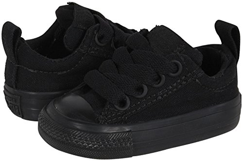 Mens Effect Skate Shoe (Converse Boys' Chuck Taylor All Star Street Slip (Inf/Tod) - Black Monochrome - 6 Toddler)