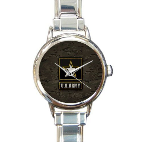Hot Sale Watch Classic US Army Round Italian Charm stainless steel Watch