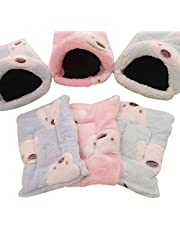 QEES Hamster Bed, Soft and Warm Hedgehog Bed, Small Animals Warm Mini Cave Bed CWMW02