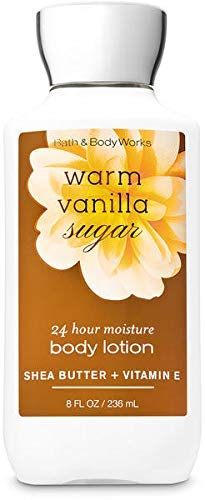 Bath & Body Works Shea and Vitamin E Body Lotion, Warm Vanilla Sugar, 8 Ounce