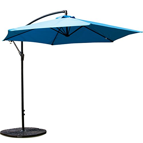 Light Blue Garden Parasol in US - 1