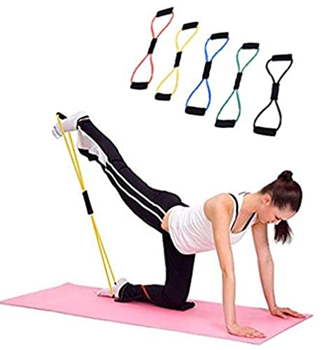 vicstar Universal Home Ejercicio Bandas Banda Elástica De Resistencia Para Entrenamiento y terapia física, guía electrónica, Pilates, Yoga, Rehab, ...