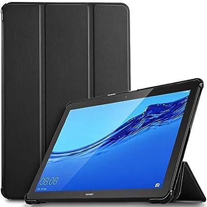 IVSO Coque Etui Housse pour Huawei MediaPad T5 10, Slim Cover Housse de Protection avec Support Fonction pour Huawei MediaPad T5 10 10.1 Pouce 2018, ...