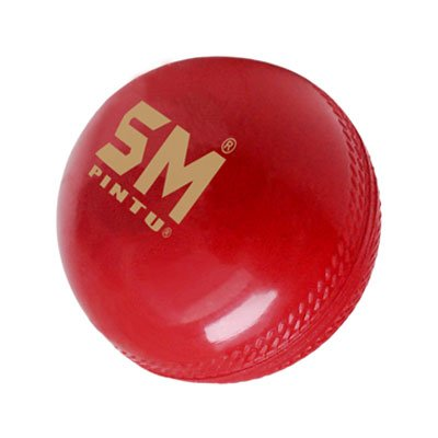 SM Leather, Synthetic Cricket Ball (5.5oz, SM (Pintu Synthetic)) (Bat Speed Radar)