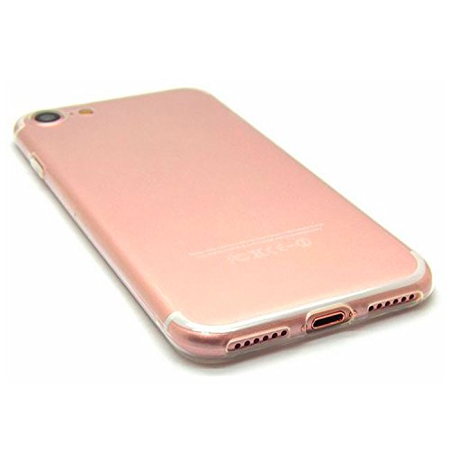 zanasta iPhone 7, iPhone 8 [Crystal Case] Soft Flex Silikon Ultra Slim Case Handyhülle, Kratzfeste Durchsichtige TPU Schutzhülle Cover Transparent