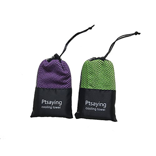 2 packs Ptsaying cooling towel ice cold towel quick dry for sports...