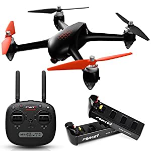 """Force1 Drones with Camera GPS Modes - """"MJX Bugs 2 Shadow HEX"""" Camera Drone and WiFi FPV Drone with Camera Live Video + Drone 1080p Camera"""