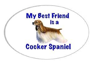 My Best Friend is Cocker Spaniel Oval Sticker