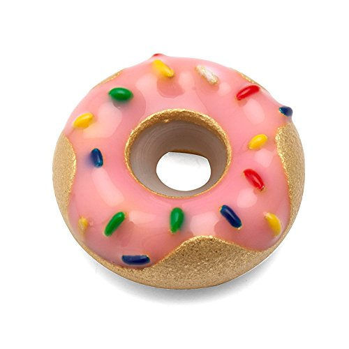 Donut Charm 925 Sterling Silver Food Charm Baby Gift Charm for DIY Charms Bracelet ()