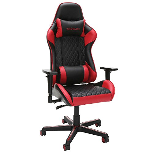 Respawn Racecar Style Gaming Swivel Chair In Black Red