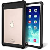 iPad Pro 10.5 Waterproof Case, Meritcase IP68 Waterproof Full Body Snowproof Dustproof Shockproof Cover with Sensitive Touching Screen Protector and Neck Strap for Apple iPad Pro (10.5) -Black