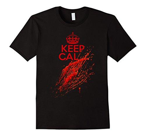 Mens Keep Calm Halloween Bloody Red Ballon Horror T-Shirt XL Black (Order Ballons)