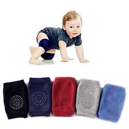 5 Pairs Baby Crawling Anti-Slip Knee Pads, Baby Toddlers Kneepads