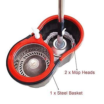 1PC 360 Degree Rotating Microfiber Mop Head Kitchen Bathroom ...