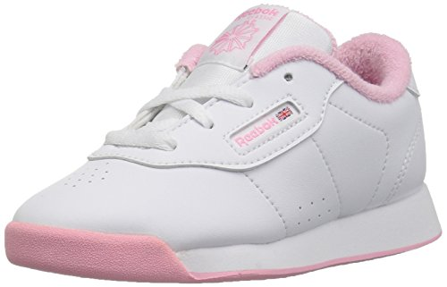 Reebok Baby Princess Sneaker, White/Light Pink, 6.5 M US Toddler