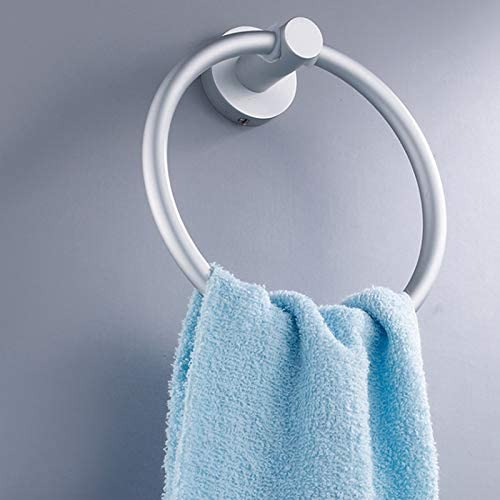 SODIAL Raum Aluminium Handtuch Ring Wand Bad Handtuch Halter Runder Handtuch Halter