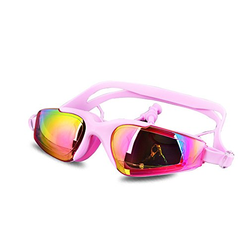 Fashion Beach Swim Goggles Earplug Electroplated Big Lens Waterproof Anti Fog - Kids Vanquisher Goggle