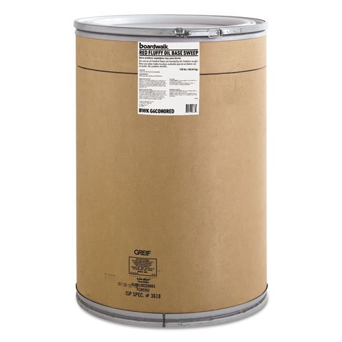 Boardwalk G6COHORED Oil-Based Sweeping Compound, Grit-Free, Red, 150lbs Drum by Boardwalk