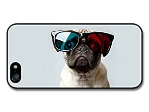 diy case Pug Dog Posing with 3D Glasses Funny case for iPhone 6 4.7