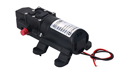 Amarine-made 12V Water Pressure Diaphragm Pump 5.0 L/min 1.3 GPM 60W Self Priming RV Booster Sprayer Pump Micropump For Home Garden Caravan/RV/Boat/Marine 12 Volt Booster